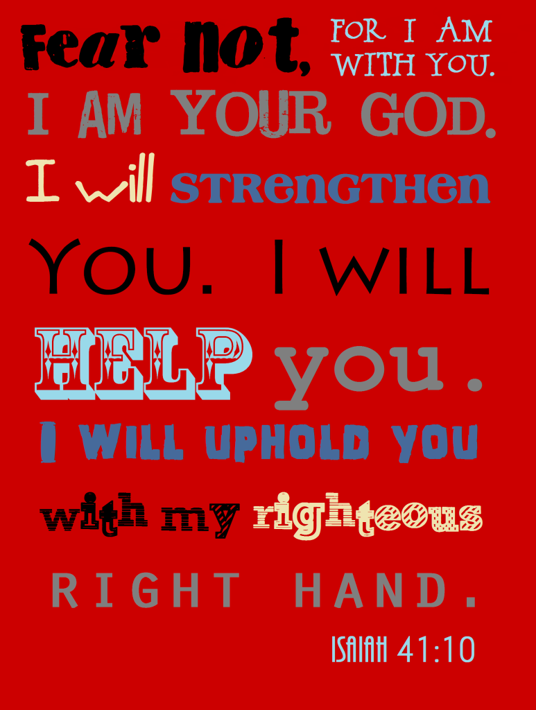 Printable- Isaiah 41