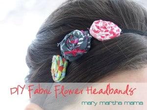 diy fabric flower headband feature