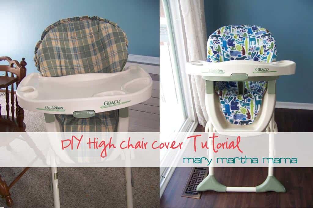diy high chair cover tutorial