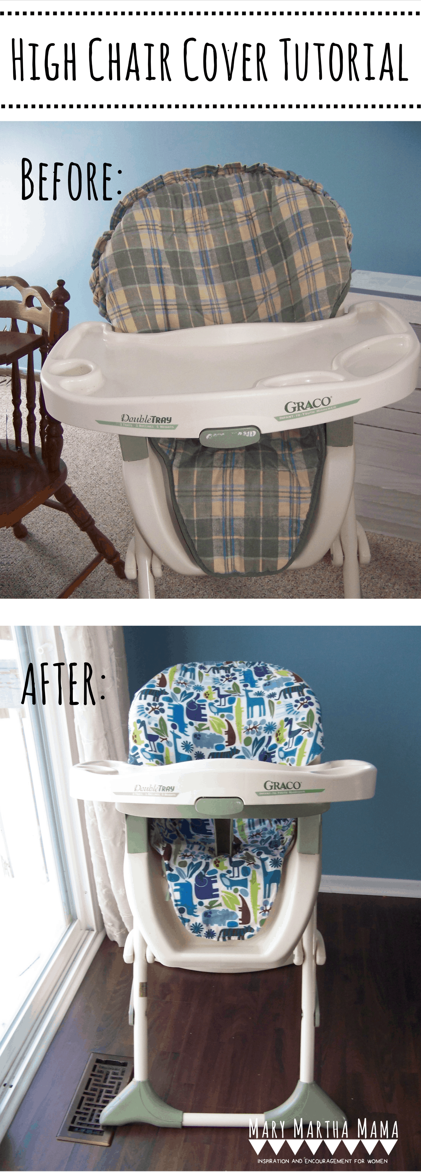 Incredible Diy High Chair Cover Tutorial Mary Martha Mama Ocoug Best Dining Table And Chair Ideas Images Ocougorg