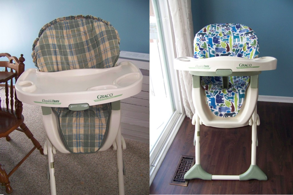 diy high chair tutorial before and after