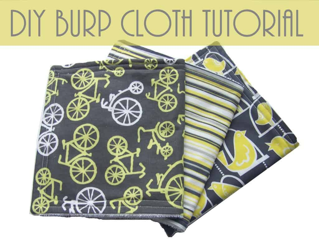 diy burp cloth tutorial how