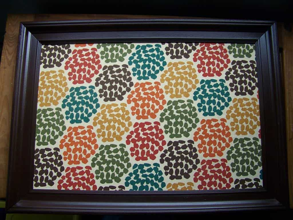diy fabric covered cork board