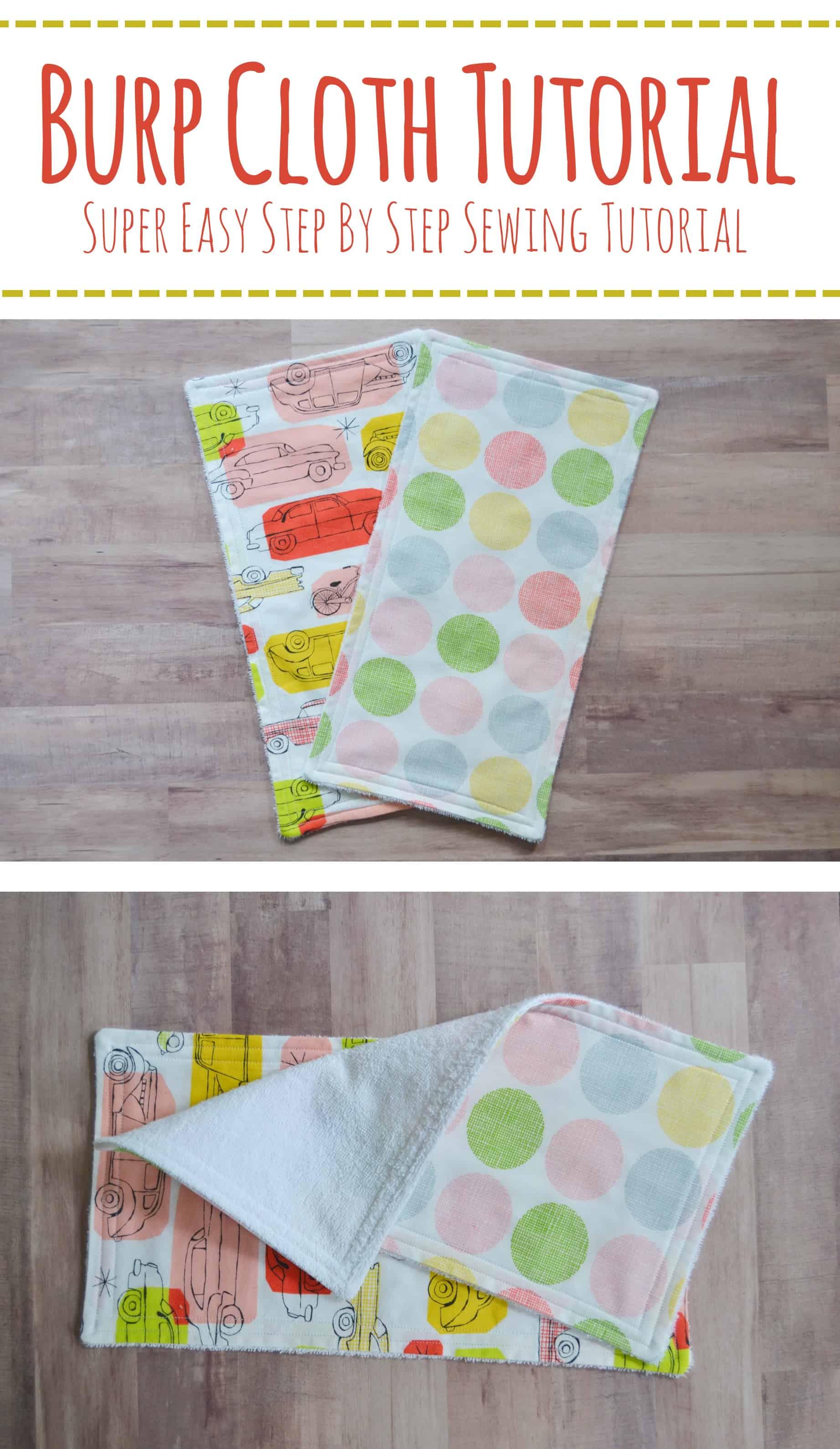 How to make a burp cloth burp cloth tutorial pin mary martha mama how to make a burp cloth burp cloth tutorial pin baditri Image collections