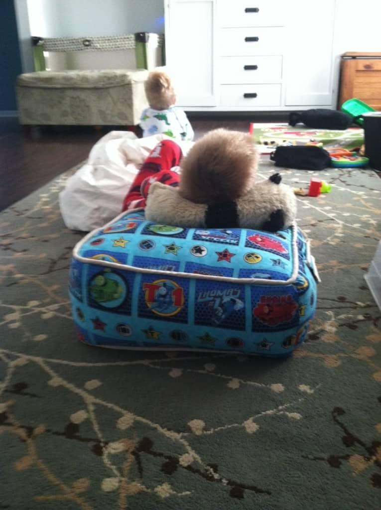 thomas cushion in use
