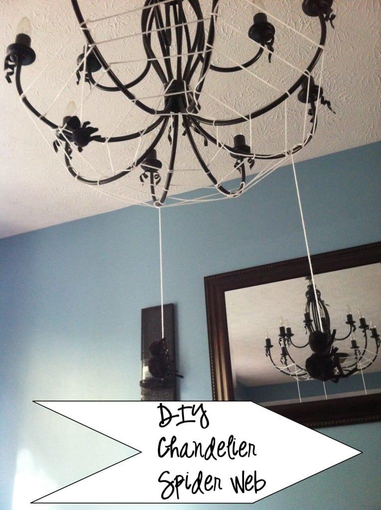 diy chandelier spider web