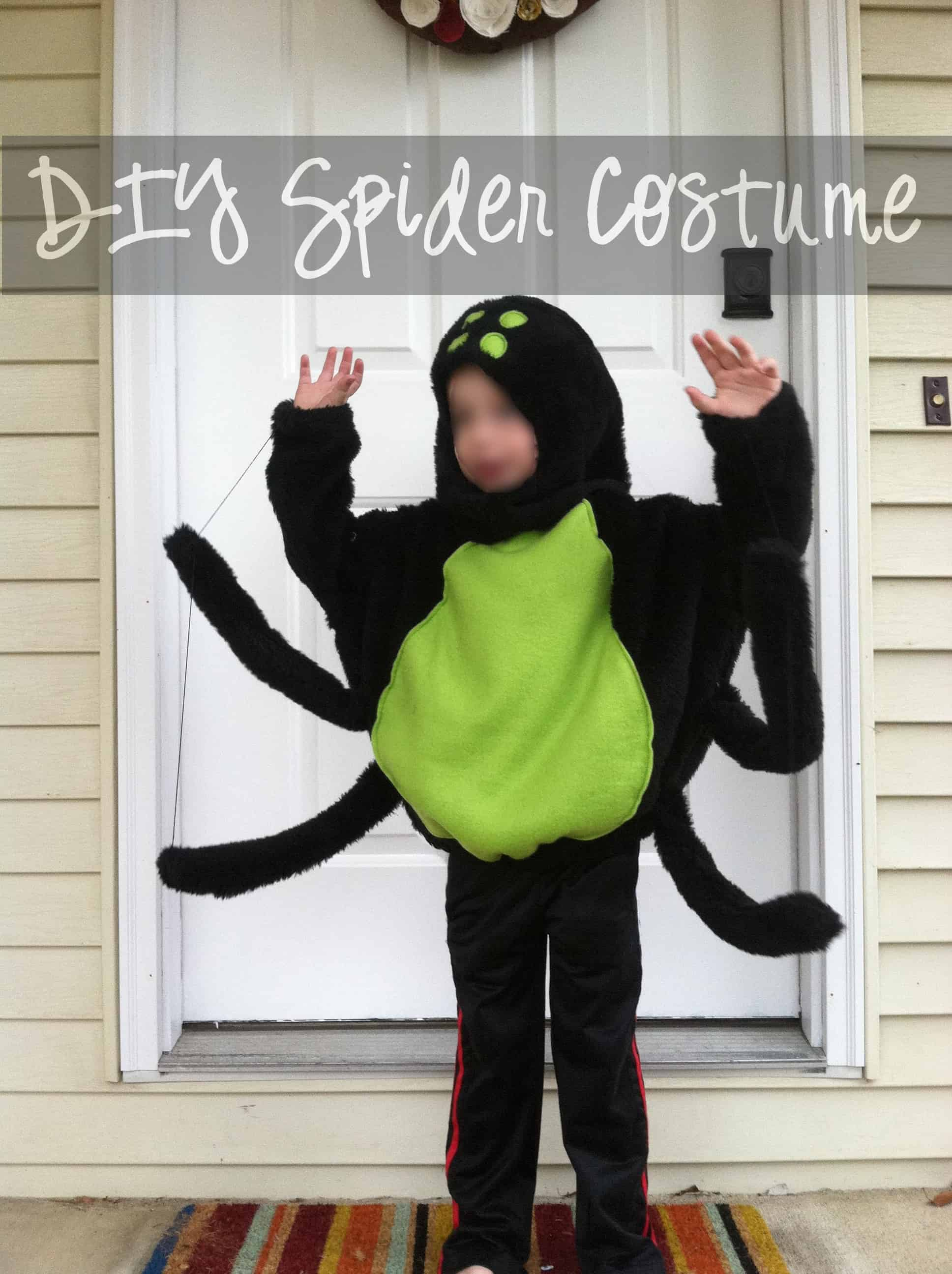 diy spider costume with text featured & DIY Batman Costume u2013 Mary Martha Mama