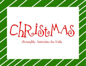 christmas printables page label