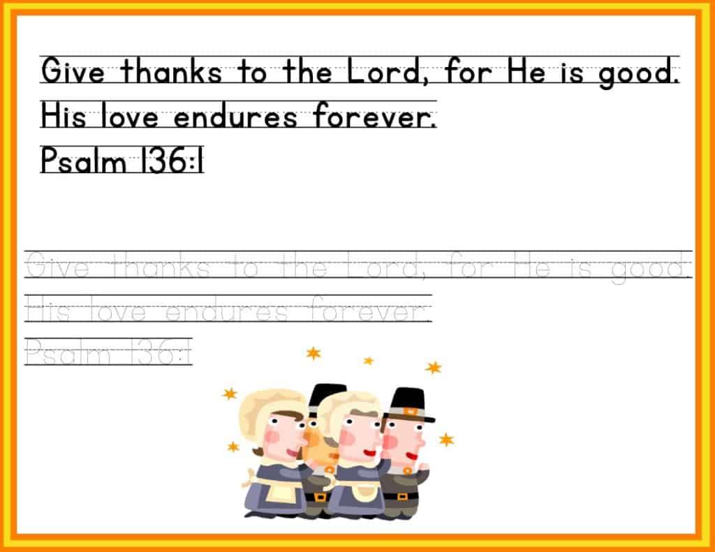 psalm 136 1 printable image