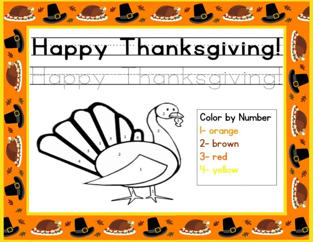 Free Printable Thanksgiving Activities for Kids - Mary ...