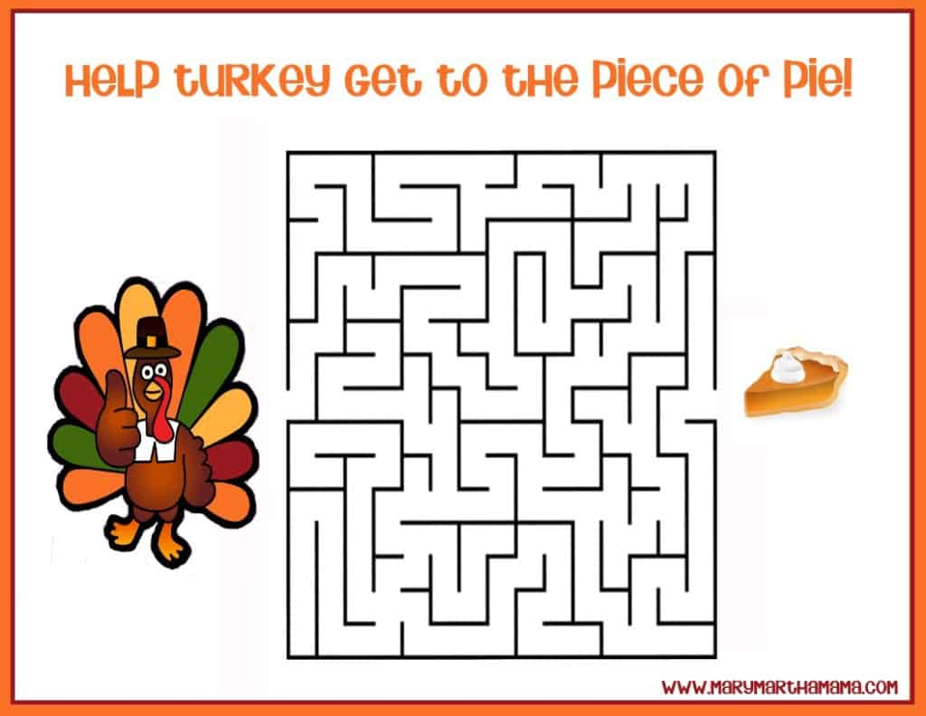 Free Printable Thanksgiving Activities for Kids – Mary Martha Mama