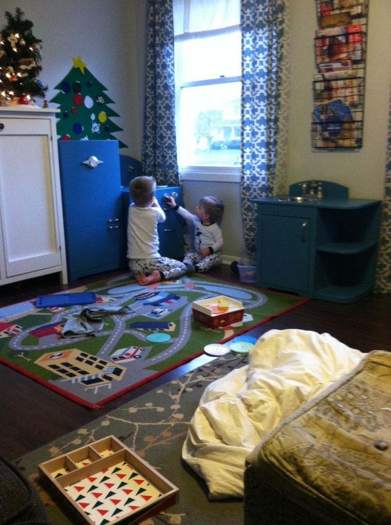 diy play kitchen playing