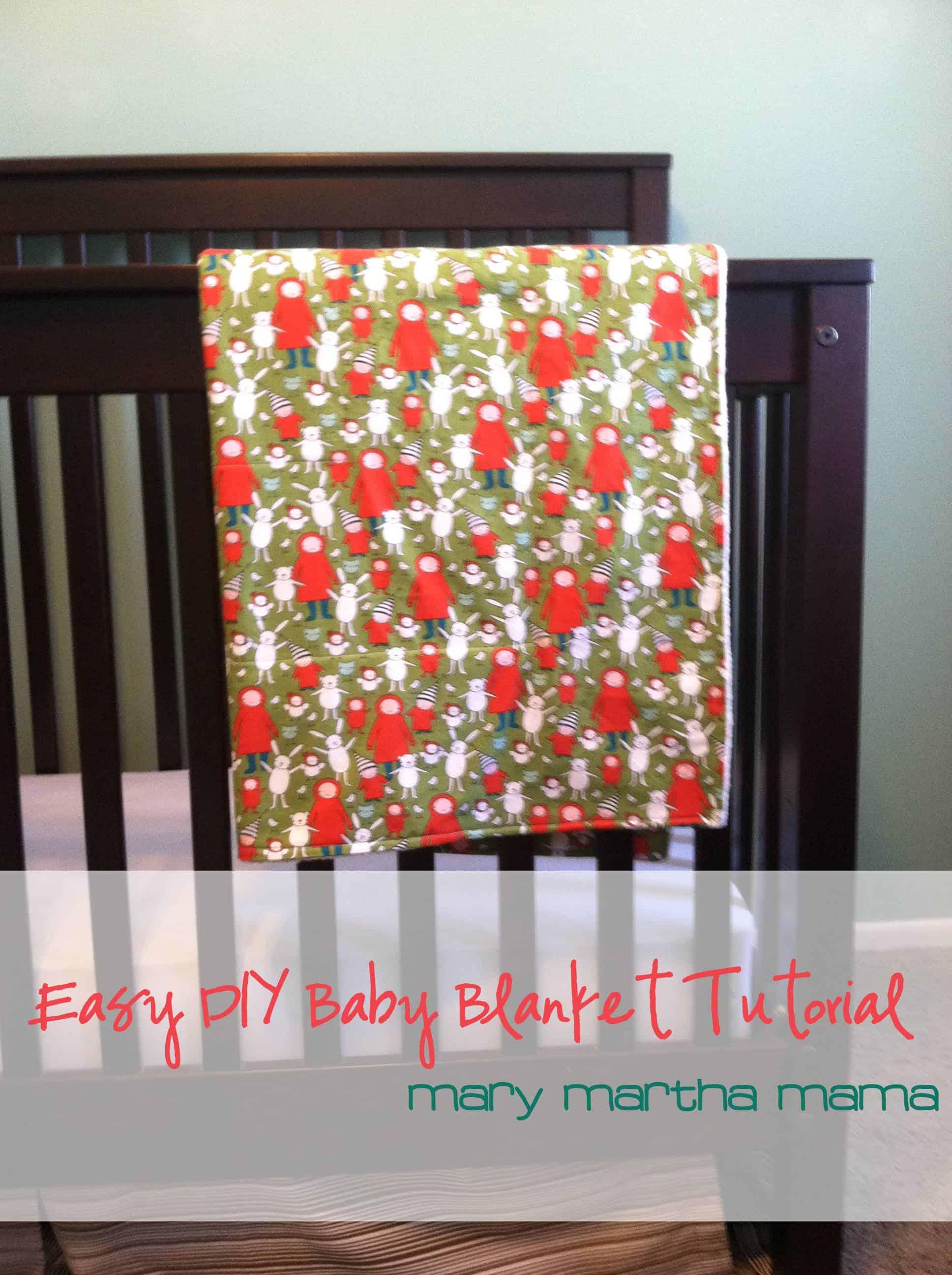 Easy DIY Baby Blanket Tutorial