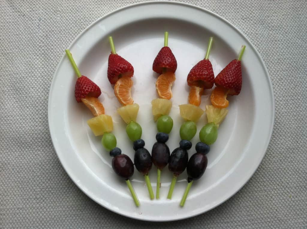 rainbow fruit kabobs for kids