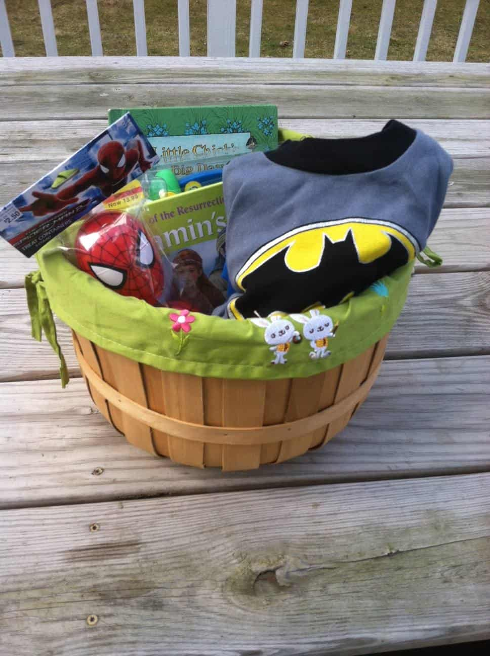 Easter baskets mary martha mama 4 year old boy easter basket negle Image collections