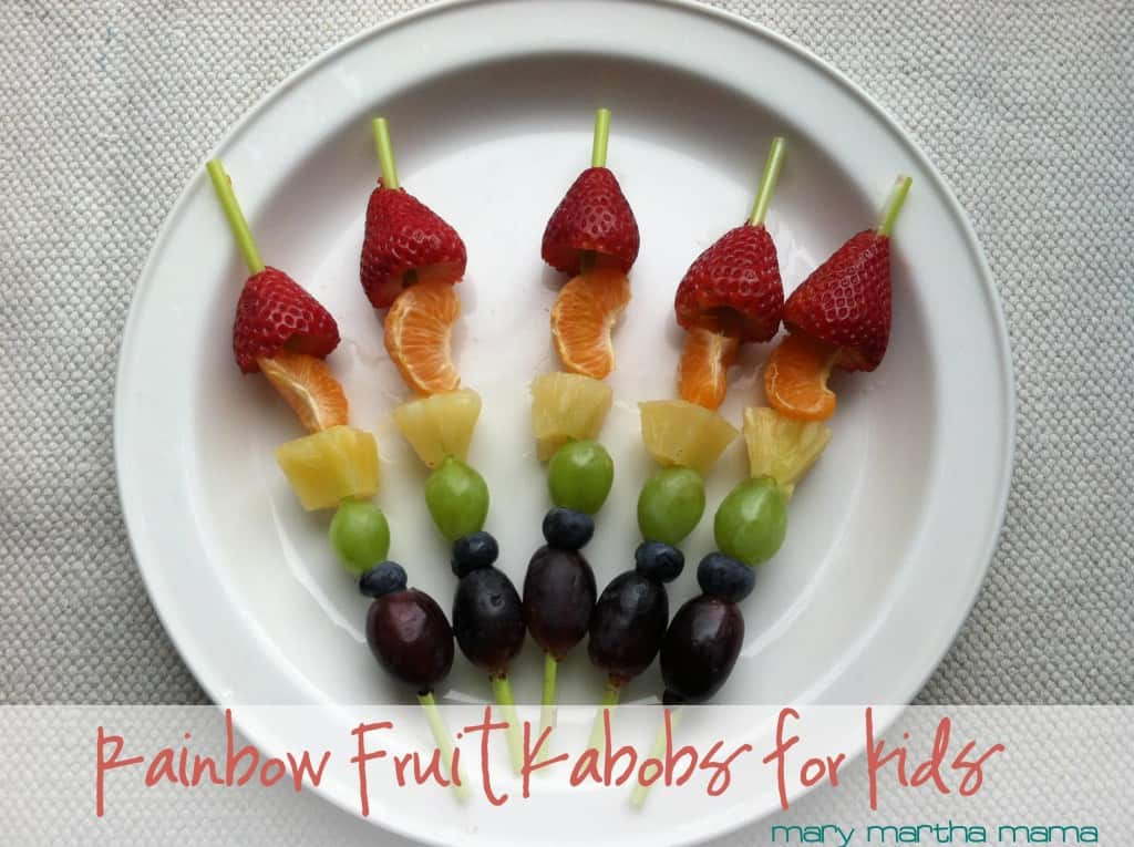 raibow fruit kabobs for kids