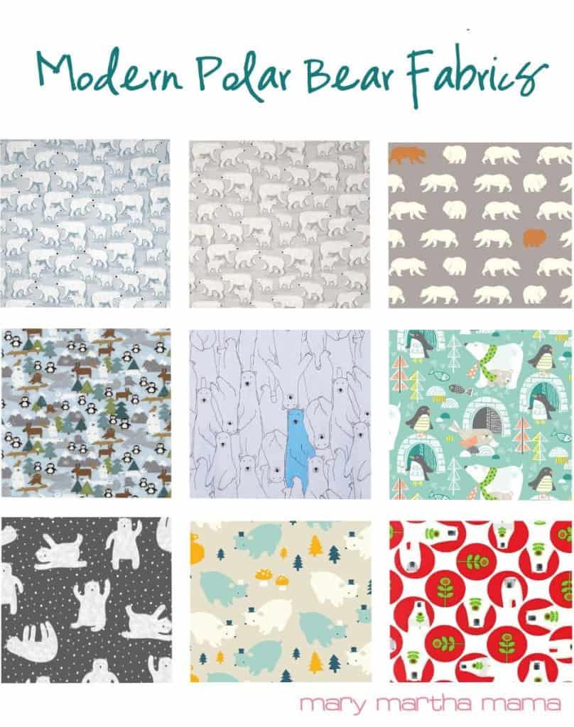 modern bear fabrics
