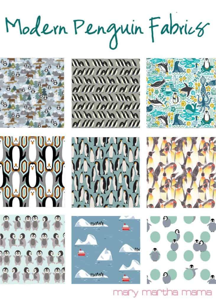 modern penguin fabrics