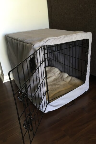 dog crate cover tutorial 5