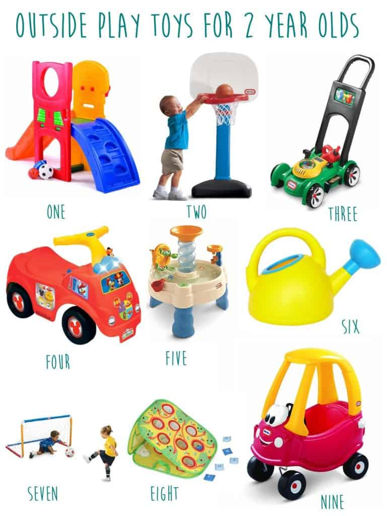 2 year old toy guide outside