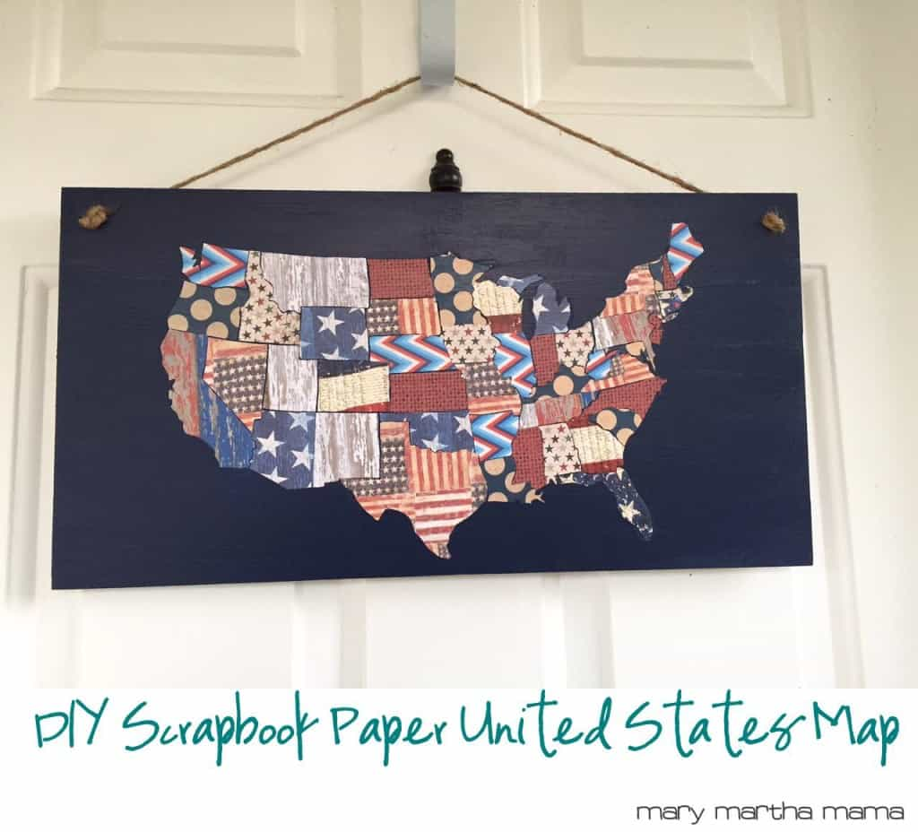 diy patriotic scrapbook paper map