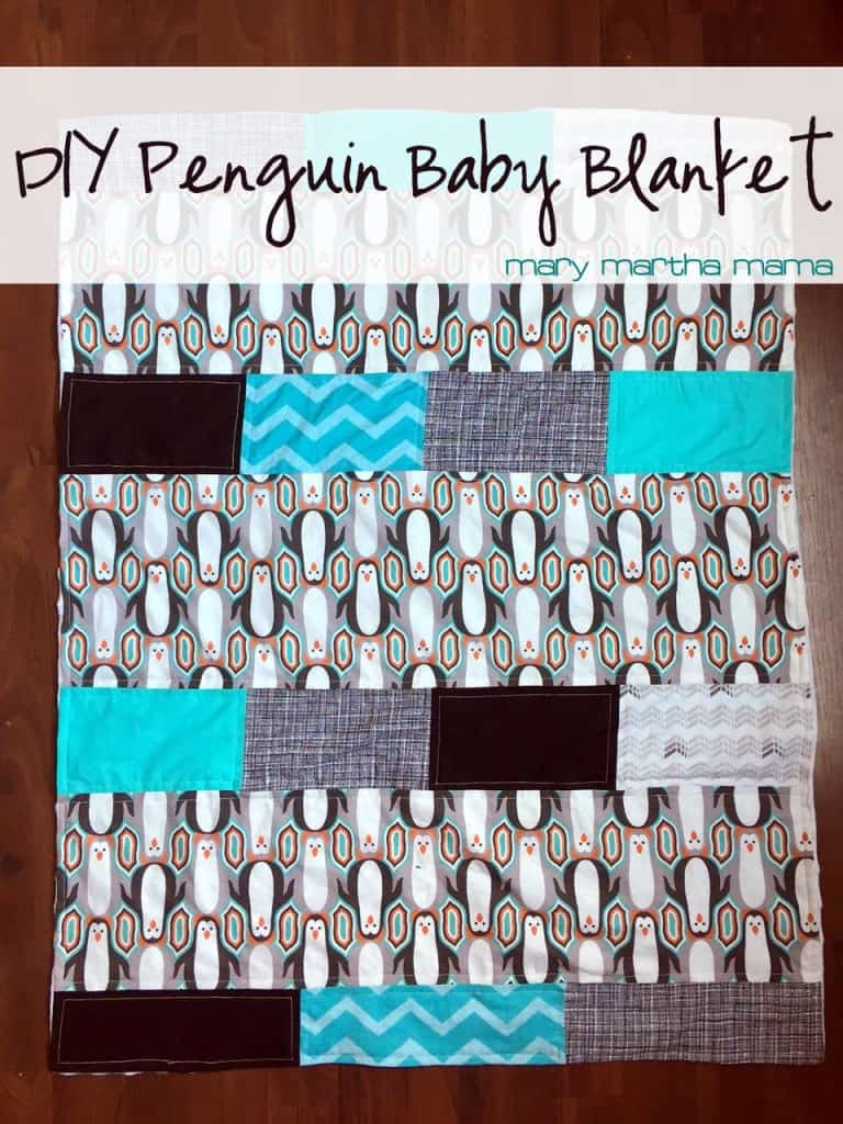 diy penguin baby blanket pin