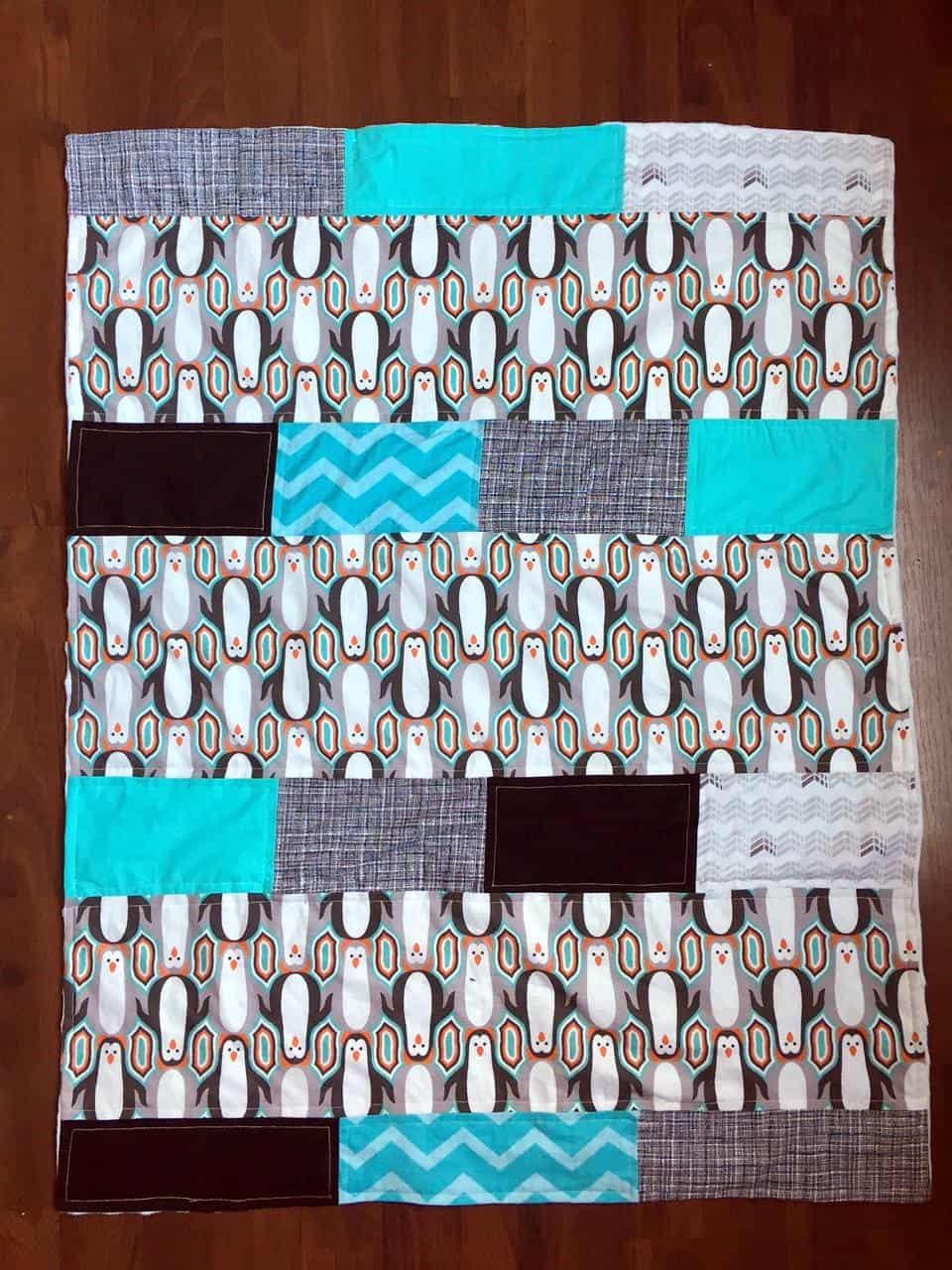 DIY Penguin Baby Quilt - Mary Martha Mama