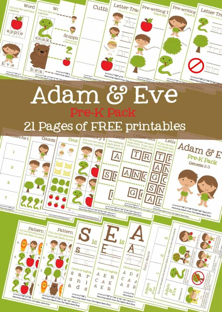 adam and eve story for kids