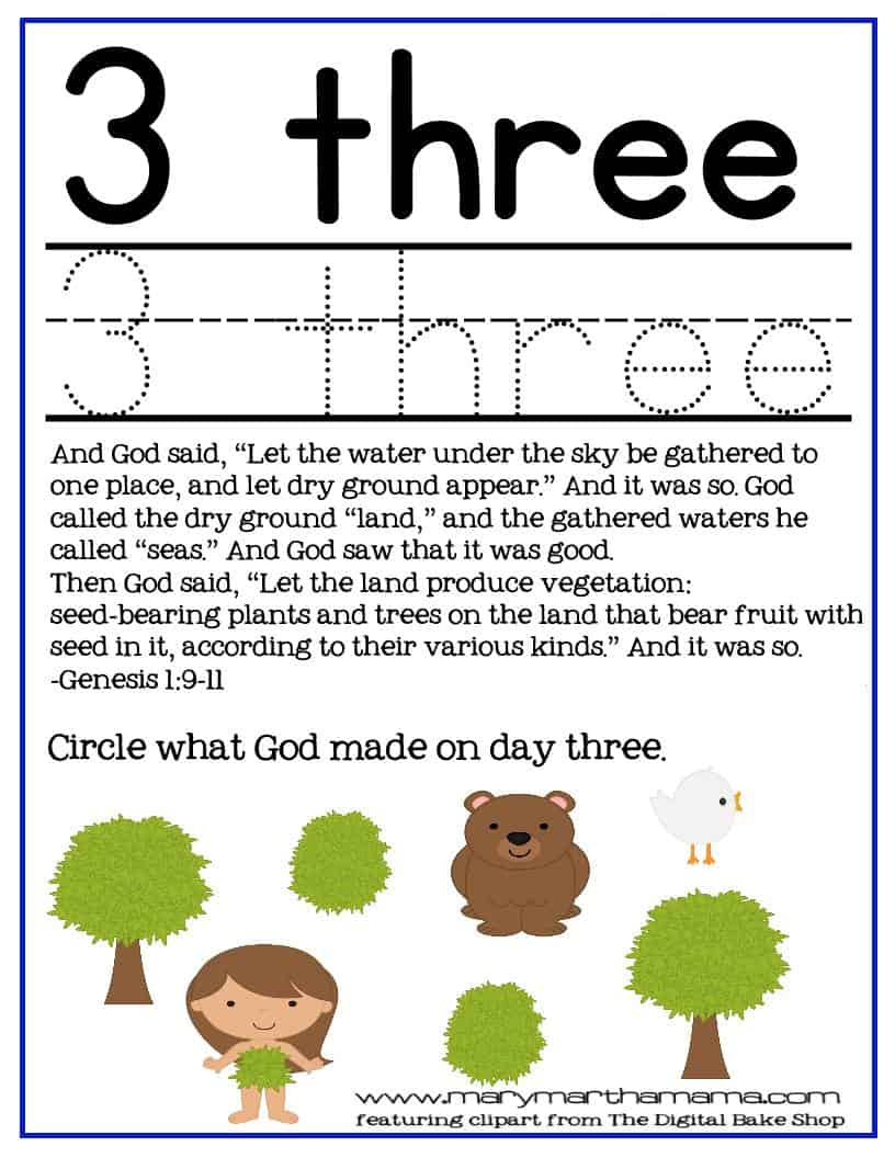 Creation Bible Story for Preschoolers Activity Pack - Mary ...