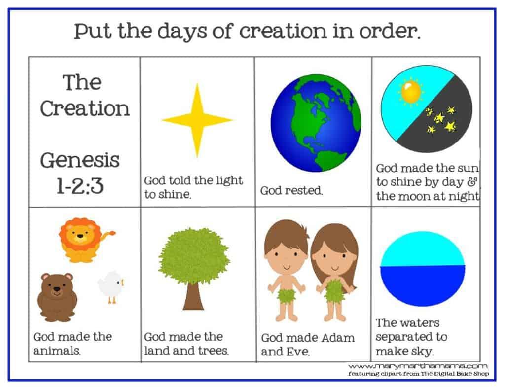 Creation Preschool Pack on Picture Sequence Activities For Preschoolers