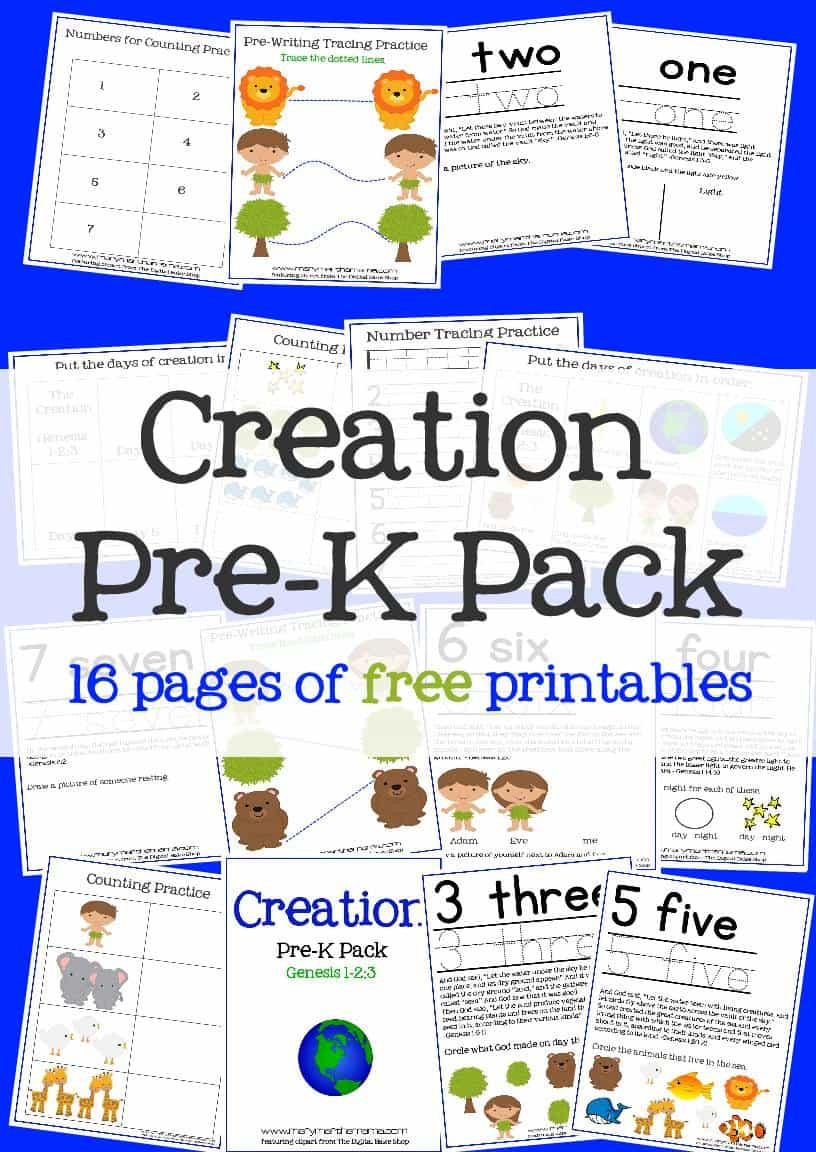creation preschool pack u2013 mary martha mama
