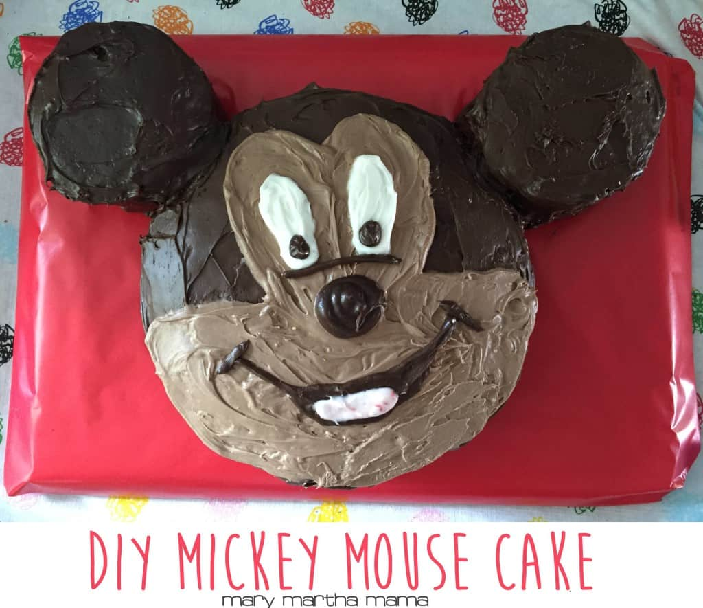 diy mickey mouse cake pinterest