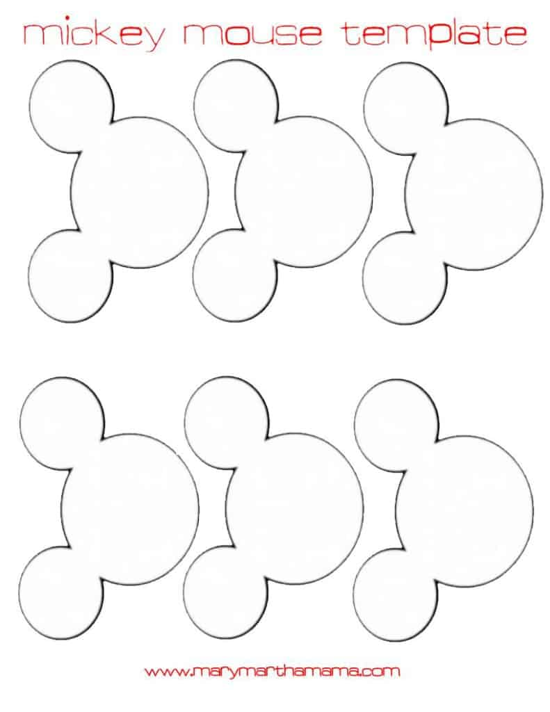 mickey mouse head template for garland larger size