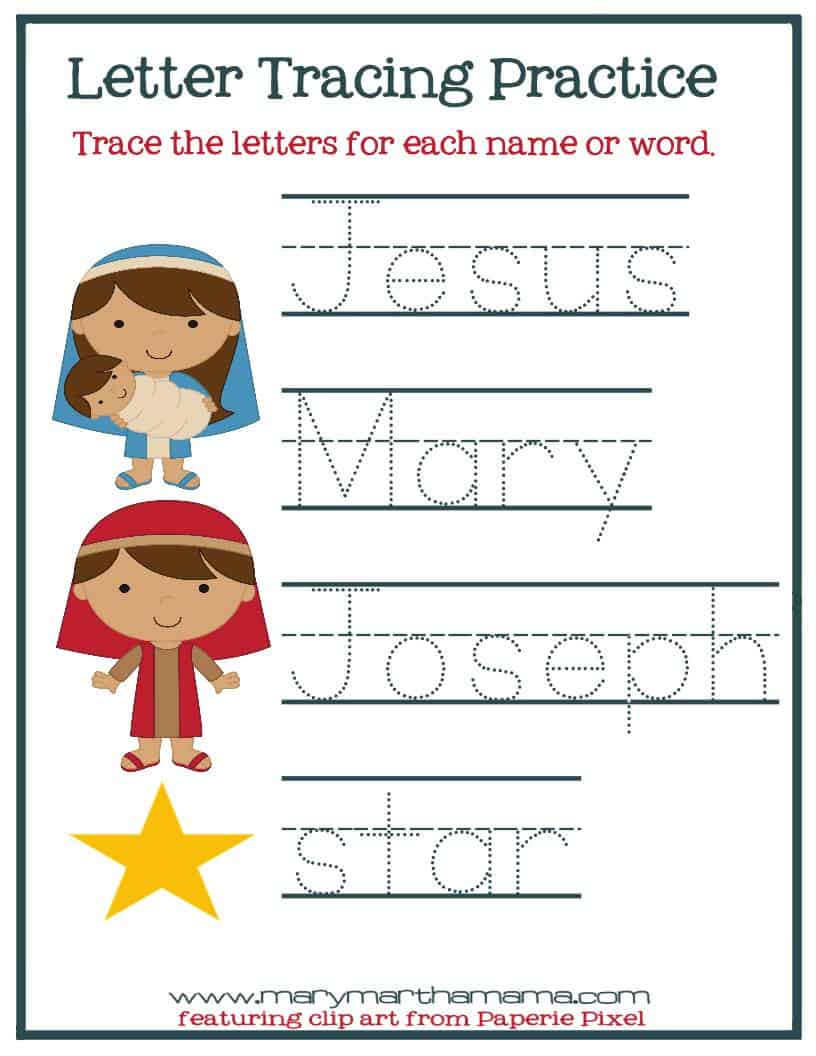 christmas worksheets for preschoolers jesus 39 birth mary martha mama. Black Bedroom Furniture Sets. Home Design Ideas