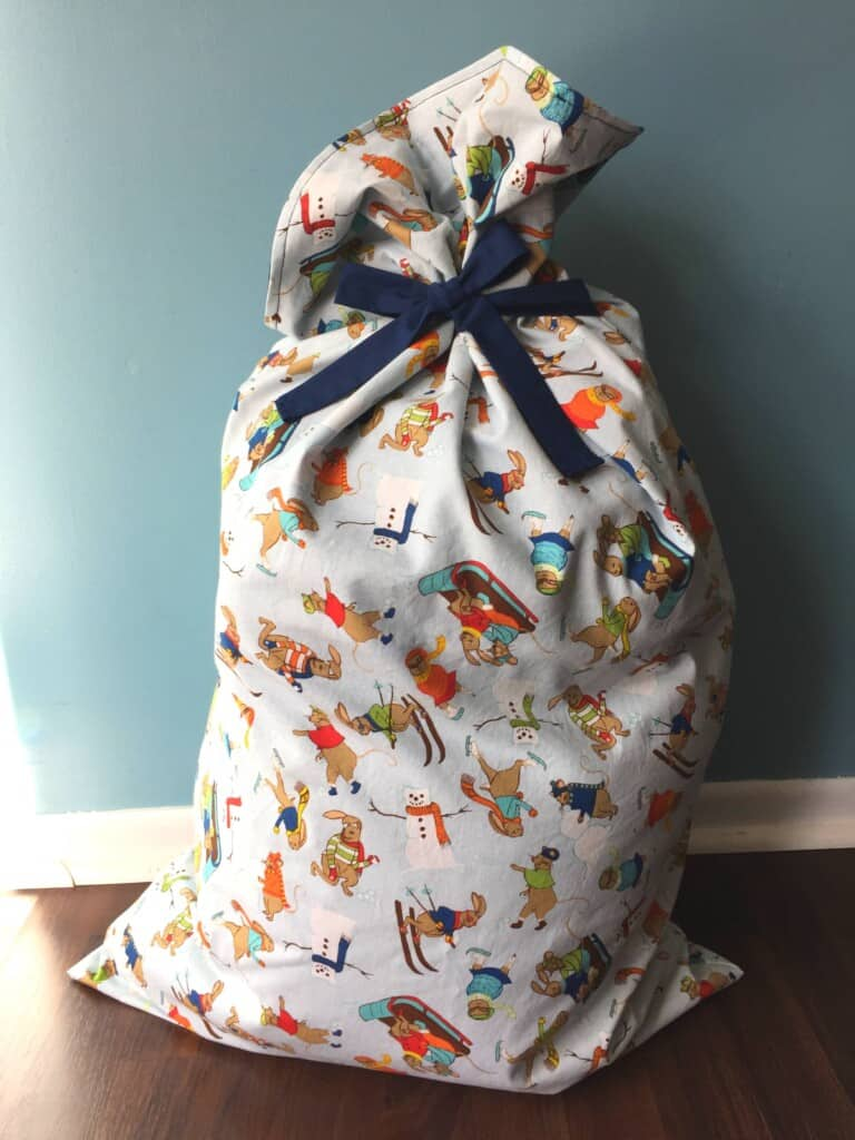 diy santa bag santa sack tutorial