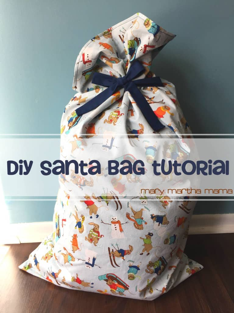 diy santa bag santa sack tutorial pin