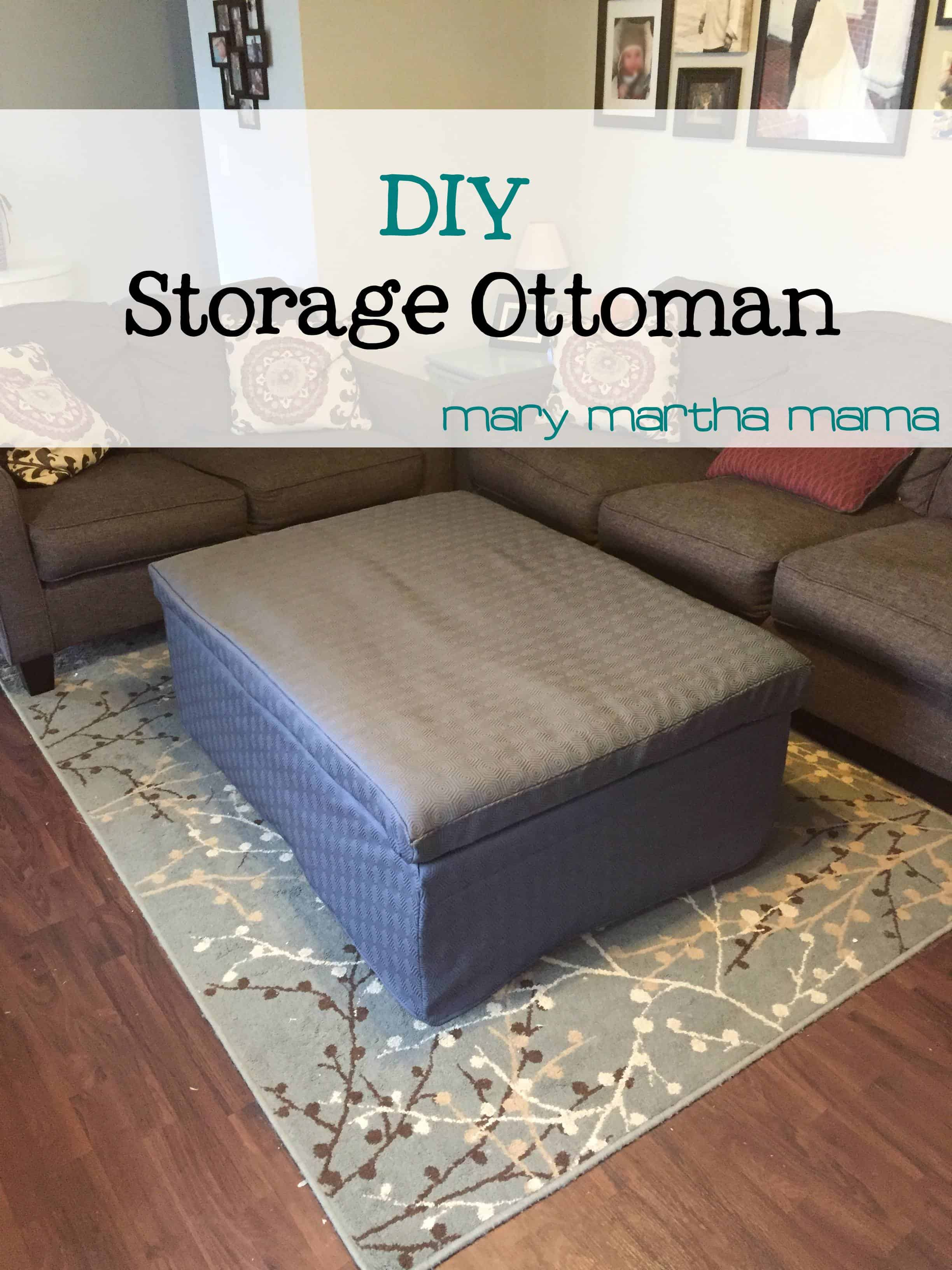 DIY Storage Ottoman – Mary Martha Mama