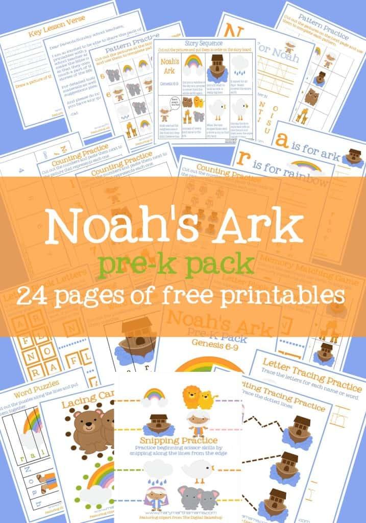noahs ark prek pack pin fea