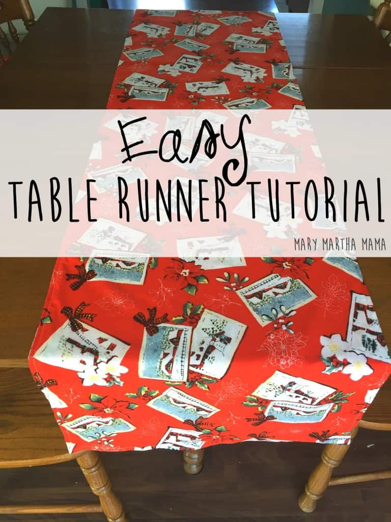 Christmas table runner tutorial pin