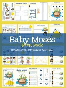 baby moses prek pack pin