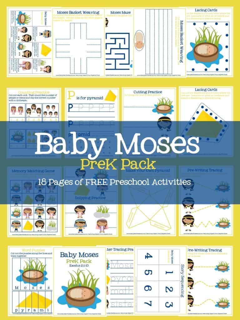 baby moses prek pack printables