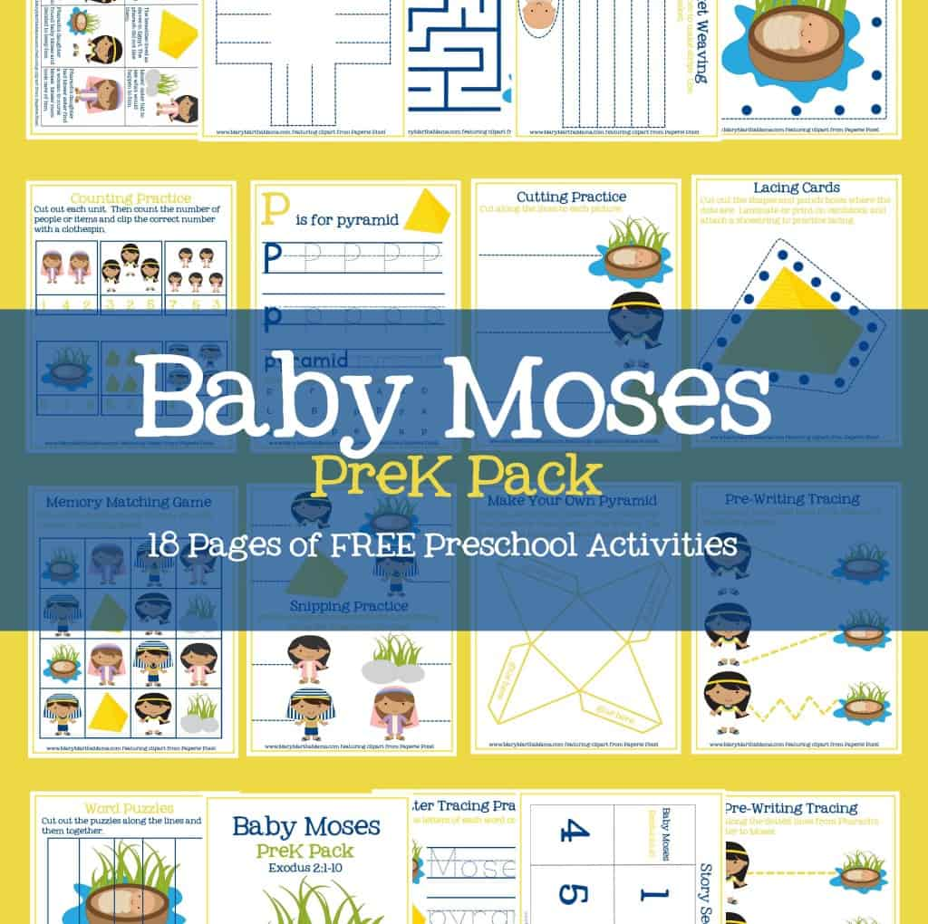 Baby Moses Activities for PreK & Early Elementary – Mary Martha Mama