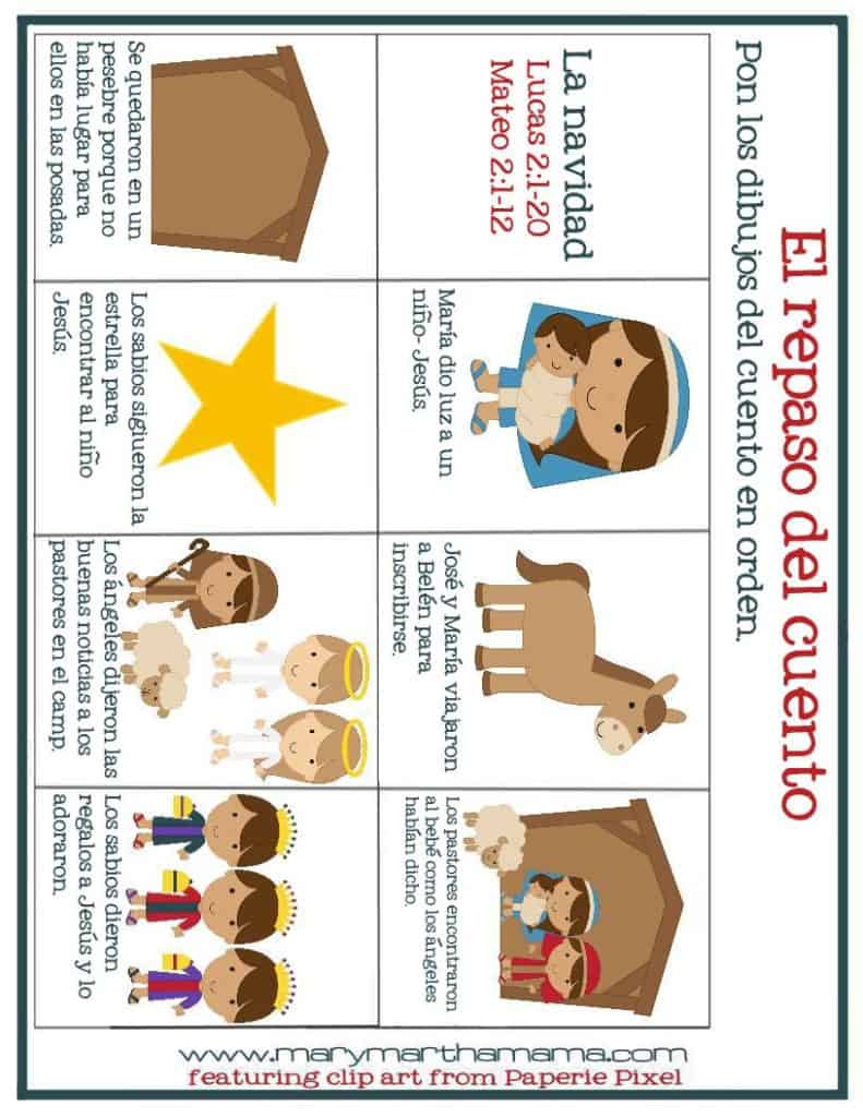 christmas prek pack christmas story sequence