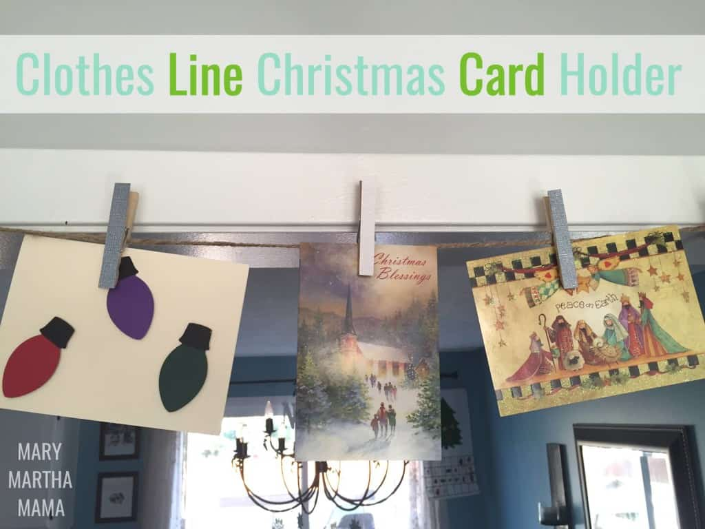 clothes line christmas card holder pin