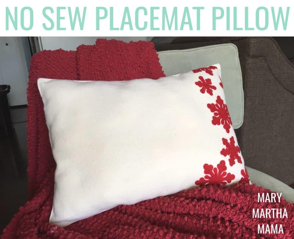 no sew placemat pillow pin