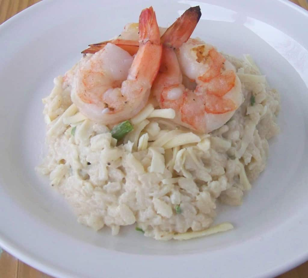 shrimp and aspagragus risotto