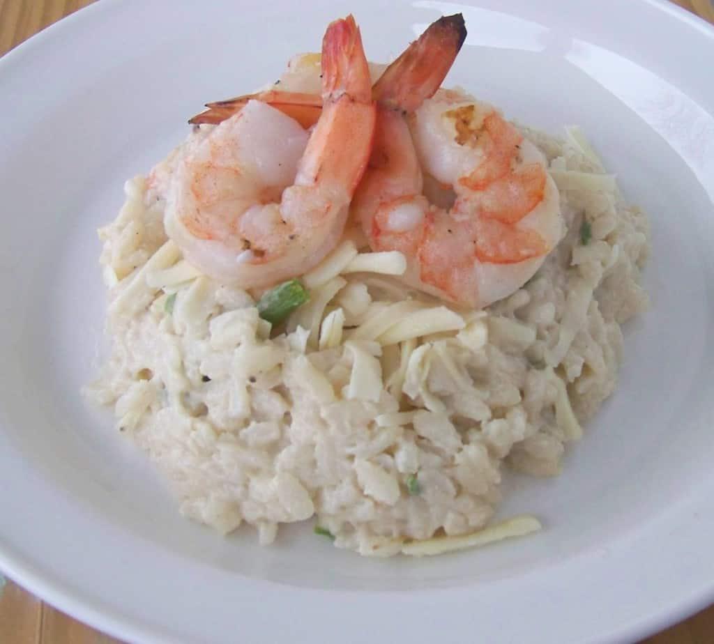 shrimp and aspagragus risotto