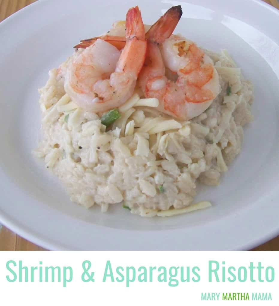 shrimp and aspagragus risotto pin