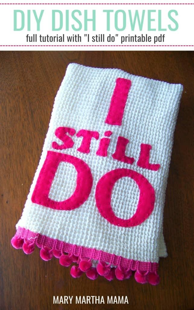 diy dishtowel i still do pin