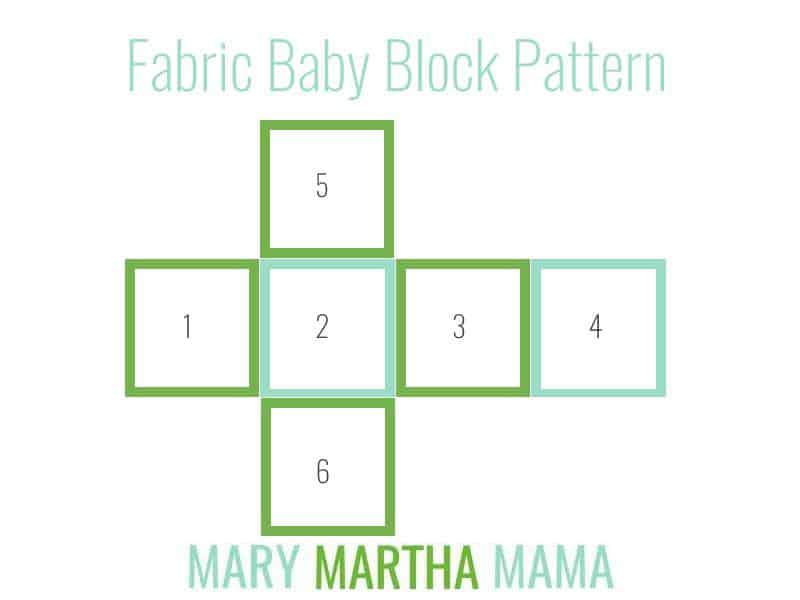fabric baby block pattern